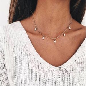 8dff7da43f5aa 5 FOR $50! 'Nyla' Gold Teardrop Choker Necklace Boutique